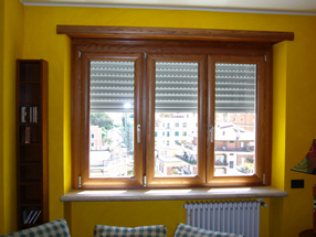 Finestre in alluminio legno o m c m infissi roma - Finestre alluminio effetto legno ...