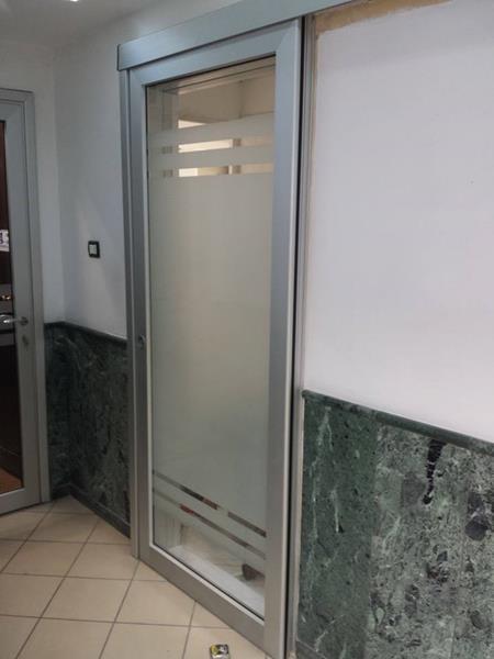 Porte interne in alluminio o m c m infissi roma - Vetro porta interna ...